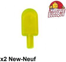Lego - 2x ice cream Popsicle esquimau glace vert fluo trans neon green 30222 NEW