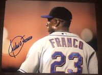 Julio Franco Autographed Mets  8x10 Photo Gdst Hologram B