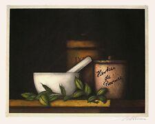 """Kurt Schönen  """"Herbes de Provence"""", 1986, Farbradierung, handsigniert"""