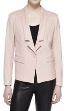 JASON WU Women's Gabardine Pink Clay Wool Blend  One button Jacket sz 4 Nwt