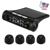 Wireless Car Auto Solar Power TPMS Tire Pressure Tool LCD Monitoring System US