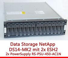 "48cm 19"" NETAPP STORAGE SHELF DS14MK2 ESH2 RS1401 RS-PSU-450-AC1N 114-00021+A 72"