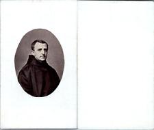 Moine ou abbé en soutane noire, circa 1870 CDV vintage albumen -  Tirage album