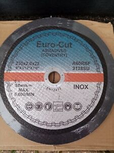 Cutting Discs 230mm X 2mm Flat Metal/Inox Euro Cut A60RBF Dated 11/2022 Pk Of 50