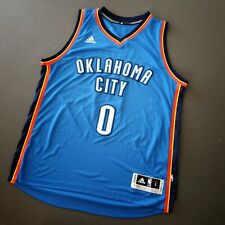 100% Authentic Russel Westbrook Adidas Thunder Jersey Mens Size L 44 Mens