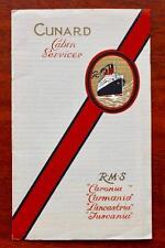 CUNARD LINE RMS LANCASTRIA TUSCANIA ETC RARE DULUXE MINI PULLOUT PHOTO BROCHURE