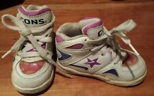 "Purple Converse High Tops Tennis Shoes Athletic CONS Toddler 5.5 Girls 6"" Kids"