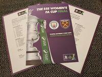 SSE WOMEN'S FA CUP FINAL WEST HAM UNITED v MANCHESTER CITY ORIGINAL TEAMSHEET!!!