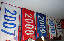 PHILLIES~1915-1993-2007-2008-2009-2010-2011 PENNANT FLAG BANNER~ALL 7 YEARS~SGA