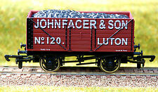 """4mm / OO GAUGE LIMITED EDITION COAL WAGON """"JOHN FACER & SON"""" OF LUTON"""