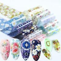 10pcs Flower Transfer Valentine Floral Nail Sticker Polish Manicure Decorations*