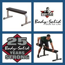 BODY SOLID USA GFB350 HEAVY DUTY COMMERCIAL FLAT PRONE WEIGHT BENCH