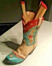 Ceramic Western Boot w/ Matches