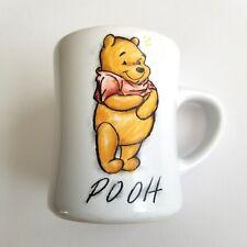Winnie the Pooh Mug Disney Beige Gold Crayon Graphic 12 Oz Ceramic Coffee Tea