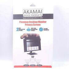 "24"" Akamai Computer Privacy Screen 1610 Black Security Shield Desktop Monitor"