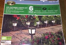 Hampton Bay 6-Pack Pathway Lights Kit Outdoor Integrated LED Low Voltage (5W)