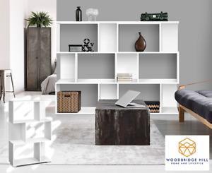 3 Tier Display Shelf Bookshelf Cube Unit Bookcase Rack Storage White Book Shelf