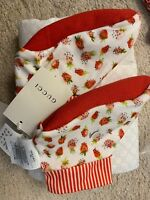 Authentic Gucci Girl Slippers With Strawberries Size 4 Last Pair!