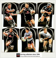 2006 Select NRL Invincible Trading Cards Jersey Die Cut Team Set Warriors (6)