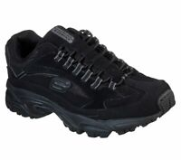 Wide Fit Skechers shoes Black Men's Memory Foam Sport Train Comfort Casual 51919