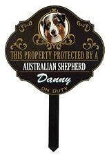 """19 Breeds Personalized """"Protected by..."""" Custom Dog Name Sign House Yard"""