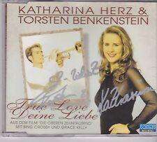 Katharina Herz&Torsten Benkenstein-True Love Deine Liebe cd maxi single gesignee