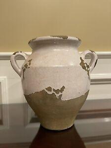Pottery Barn Tuscan Glaze Terra Cotta Urn - Rustic Farmhouse Vase Pot