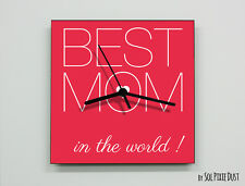 Mother's Day - To the Best Mom in the World - Wall Clock