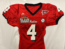 Northern Illinois Niu Huskies Game Used Worn Ncaa Football Adidas Jersey Sz 42