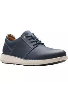 Clarks Men's Casual Shoe UN LARVIK LACE Navy Leather UK Size 6.5 G EU 40