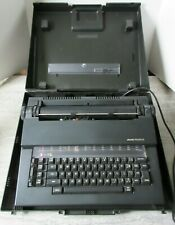 Vintage 1980's Olivetti Praxis 35 Black Plastic Electric Typewriter with Case