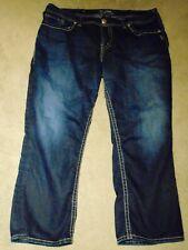 "Silver jeans ""Suki Capri""  Women's  denim Capri's  Sz16"