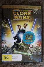 STAR WARS ANIMATED CLONE WARS MOVIE RARE SPECIAL DOUBLE DISC EDITION W/ TATTOOS