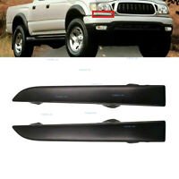 LH&RH Bumper Grille Headlight Filler Trim Fit For 2001-2004 Toyota Tacoma 4WD
