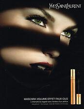 PUBLICITE ADVERTISING 045  2008  YVES SAINT LAURENT   cosmétiques MASCARA