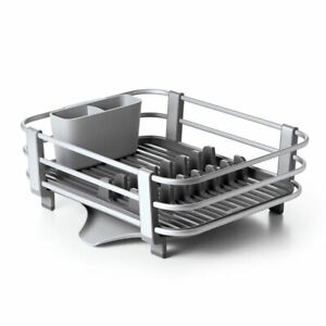 Oxo Good Grips Large Aluminum Sink Dish Rack Drying Tray Drainer Gray (Open Box)