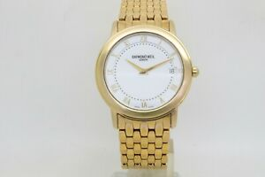 Raymond Weil Geneve 18k Electroplated Gents 36mm Quartz Bracelet Watch Ref, 5598
