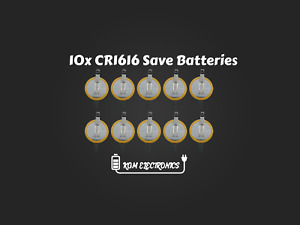10x CR1616 Save Battery Tabs Pokemon Gameboy Advance GBA Ruby Sapphire Emerald