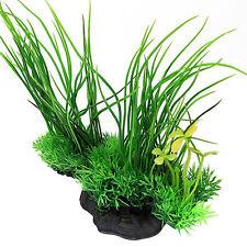 FR_ EG_artificiel décor long feuille plante Faux Plante Aquatique Pour