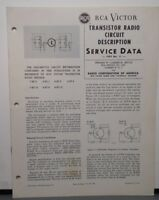 RCA VICTOR SERVICE MANUAL 1957 #11 TRANSISTOR RADIO CIRCUIT 7-BT-9 8-BT-7 8-BT-9