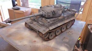 Heng long 1/16  RC German Tiger 1  Tank custom paint pro version