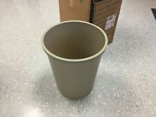 Case Of 6-NEW Rubbermaid 2947 Untouchable 11 Gallon Round Trash Can, (Beige)