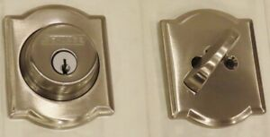 Schlage B60N CAM 619Single Cylinder Keyed Deadbolt in Satin Nickel