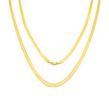 "10K Yellow Gold Solid Womens 3mm High Polish Silk Herringbone Chain Necklace 16"""