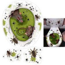 Halloween Party Terror Rats Spiders Infestation Toilet Topper Decoration