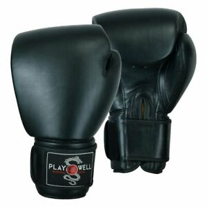 PMA Pro Elite Leather Heavy Boxing Gloves Sparring Kick Muay Thai MMA 18oz 20oz