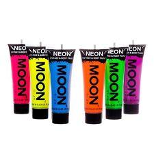 Bagliore della Luna Intensi Neon UV viso & corpo pittura Festival Rave Party Set di 6 x 12ml
