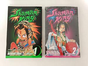 Shaman King Shonen Jump Manga Vol.1 and 2 (NEW) Japanese Anime  #88