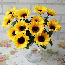 FD1010 Artificial Sunflowers Posy Bouquet Home Craft Decor DIY ~1 Bunch 7 Head✿