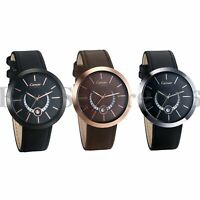 Mens Military Army Analog Quartz Genuine Leather Wrist Watch Date Waterproof